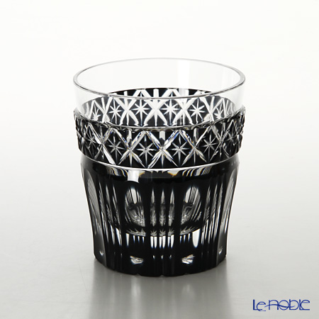 Satsuma Vidro / Satsuma Kiriko Flashed Glass 'Black' Tumbler 55008 萨摩切子 '黑切子' 高球杯
