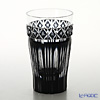 Satsuma Vidro Industrial Arts, Satsuma Kiriko, Beer Glass, Black 55108