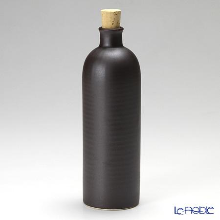信楽焼 魔法の容器 ボトル 黒 スリム