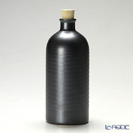 信楽焼 魔法の容器 ボトル 黒 ワイド