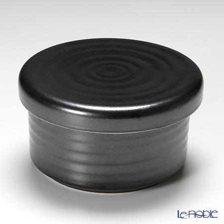 信楽焼 魔法の容器ご飯容器 黒 【レンジ対応】