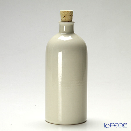 信楽焼 魔法の容器 ボトル 白 ワイド