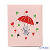 Kitchen 'Moomin Collection - Little My with Umbrella' Red / Pink WX160004 Sponge Wipe 17.5x20cm