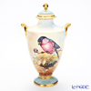 Aynsley Fine Art Collection Vase 24 cm, Blue Finch (Bird)