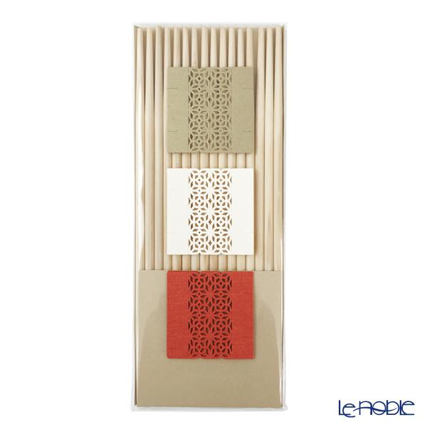 cohana 折り紙式 お箸飾り・箸置き8枚セット HD-902-GWR 24cm祝い箸付