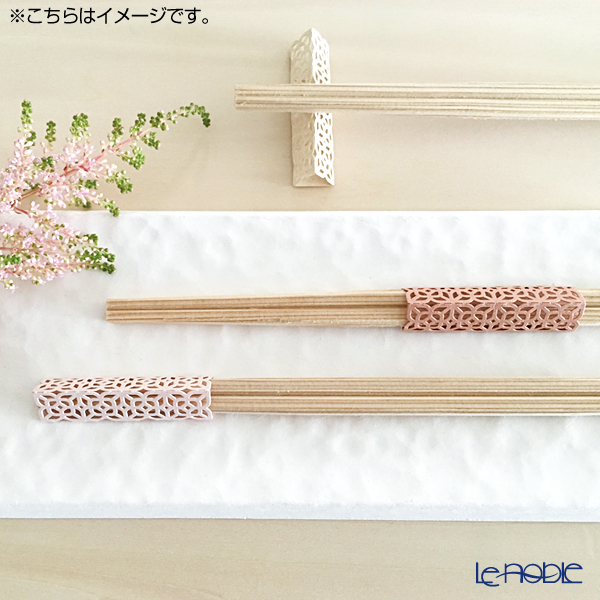 cohana 'Origami - Ko-zakura' Pink Rikyu Chopsticks & Paper Chopstick Rest (set of 10 for 5 persons)