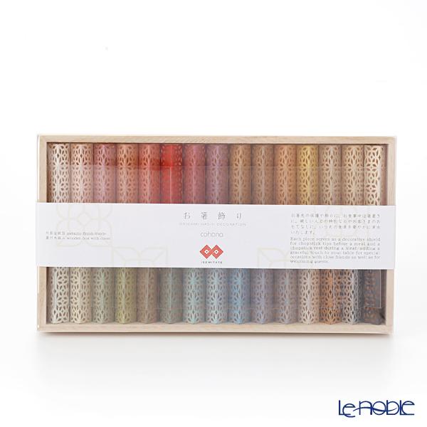 cohana 折り紙式 お箸飾り・箸置き30個セット ISEMITATE 蓋付木箱入 HD-920-IMB