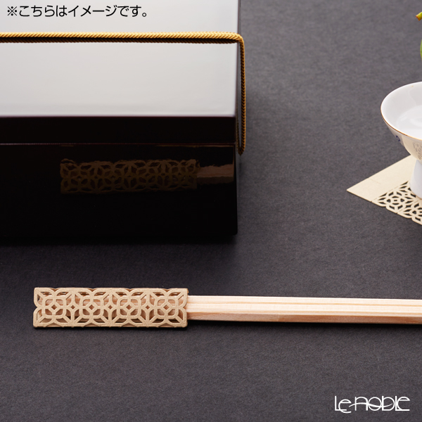 Cohana Origami Decoration Chopstick Rest & Chopsticks 24cm set of 10pcs with wooden box ISEMITATE HD-922-IM0