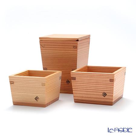 Omoeraku Nikko Cedar Sake Japan Sake Vessel Series Gift Set L