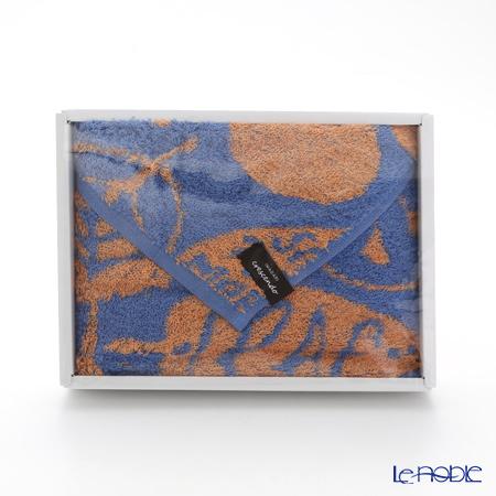 Imabari Towel 'Leaf' Blue & Orange Face Towel 34x90cm 今治毛巾
