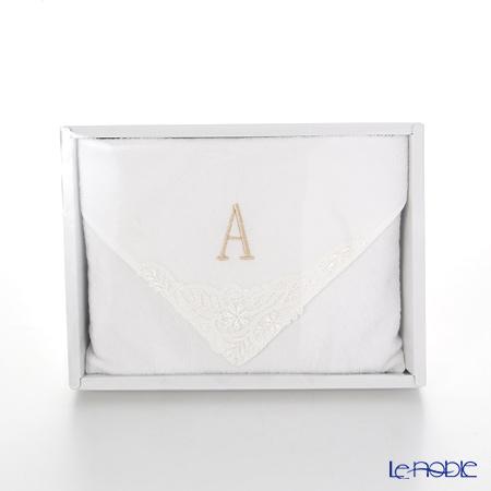 Imabari Towel 'Initial - A' White Towel 25cm 今治毛巾