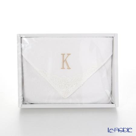 Imabari Towel 'Initial - K' White Towel 25cm 今治毛巾