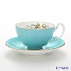 Aynsley wild Tudor WTUT Tea Cup & Saucer (Oban) turquoise