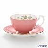 Aynsley wild Tudor WTUT Pink Tea Cup & Saucer (Oban)