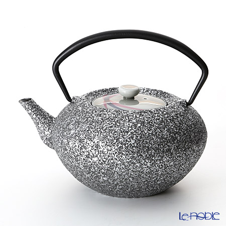 YOnoBI 'Hira - Mikazuki' Silver Cast Iron Tea Pot 700ml