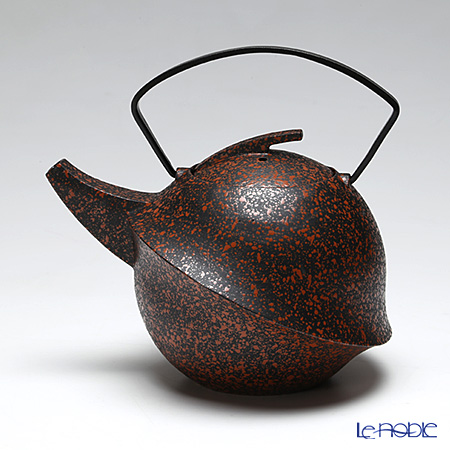 YOnoBI 'Kabuto II - Kaba' Red Cast Iron Tea Pot 600ml