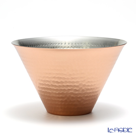Odakodoki Red & White Moscow Mule Cup - Tsuchime finish (Hammered grain) 350 ml