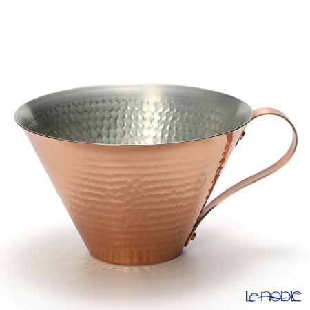 織田幸銅器 RED & WHITEアイスコーヒーカップ(鎚目) 350ml