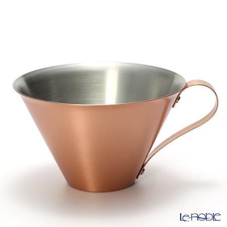 織田幸銅器 RED & WHITEアイスコーヒーカップ(マット) 350ml