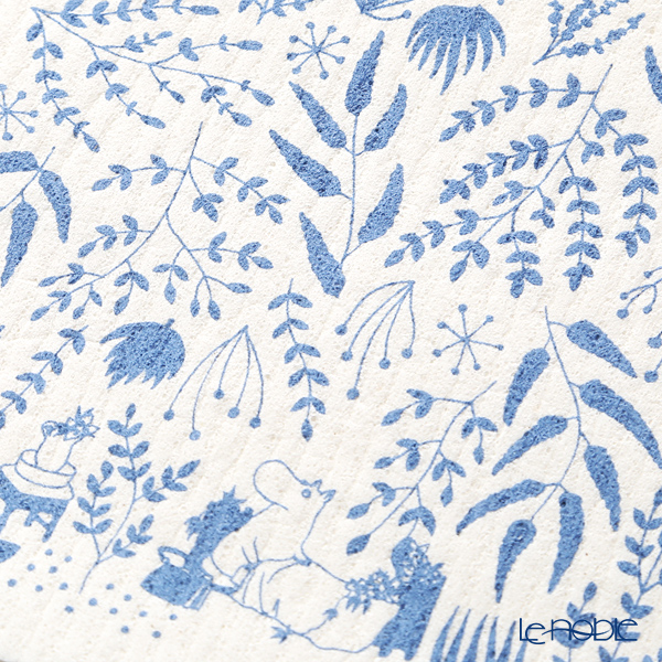 Kitchen 'Moomin Collection - Jangle' Blue / White WX161122 Sponge Wipe 17.5x20cm