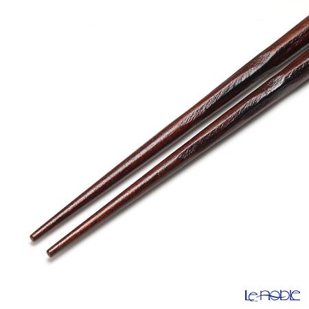 若狭塗箸 一双 ISSOU一雫 21cm 紫檀
