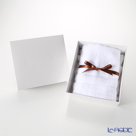 Micro Cotton 'Regular' White Hand Towel 33x33cm