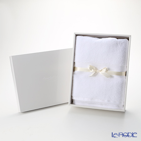 Micro Cotton Premium Bath Towel, white with gift box