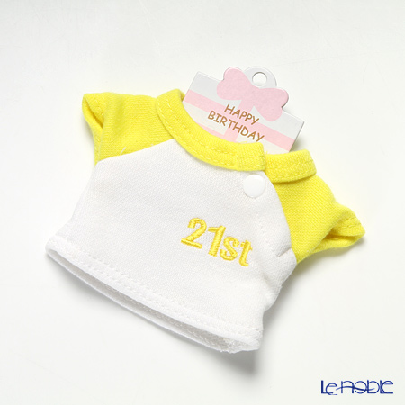 バースデーバニー用Tシャツ21日 イエロー