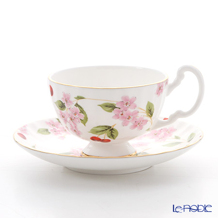 Aynsley 'Cherry Blossom' Oban Tea cup & Sauce 180ml