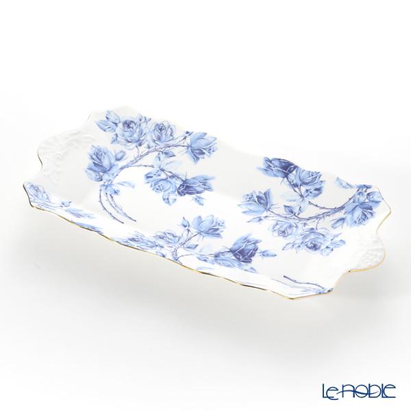 エインズレイ エリザベスローズ ブルー サンドイッチトレイ 30cm