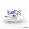 Aynsley Elizabeth Rose Blue Oban Teacup & Saucer