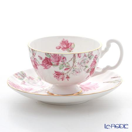 エインズレイ エリザベスローズ ピンク ティーカップ&ソーサー(オーバン) 180ml