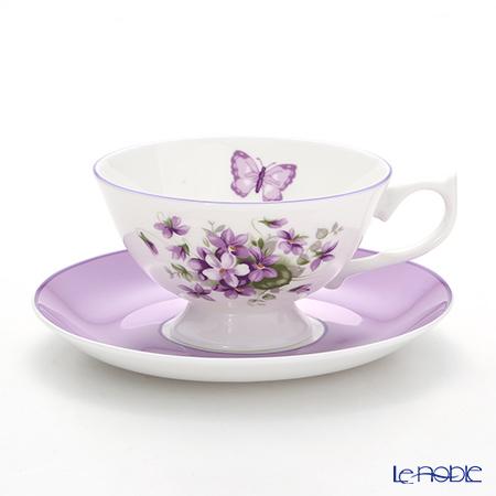 エインズレイ イングリッシュバイオレット ティーカップ&ソーサー(アセンズ) 200ml