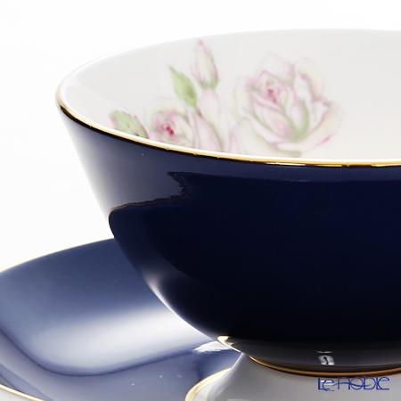 エインズレイ エリザベスローズ ピンク #3056ティーカップ&ソーサー(アセンズ) コバルト 200ml