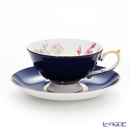 エインズレイ エリザベスローズ ピンク #3056 ティーカップ&ソーサー(アセンズ) コバルト 200ml