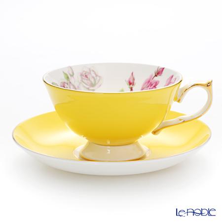 エインズレイ エリザベスローズ ピンク #3056 ティーカップ&ソーサー(アセンズ) イエロー 200ml
