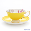 Aynsley Elizabeth Rose Athens Teacup & Saucer, yellow #3056