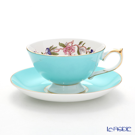 Aynsley Pembroke Athens Teacup & Saucer, turquoise 200 ml #2901