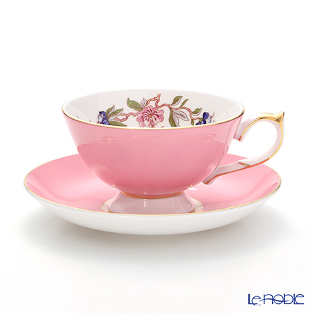 Aynsley 'Pembroke' Pink Athens Tea Cup & Saucer 200ml