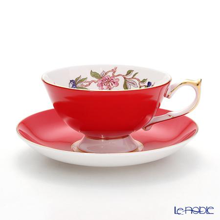 Aynsley Pembroke Athens Teacup & Saucer, red 200 ml #2901