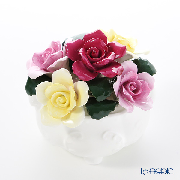 Aynsley 'Anniversary Flowers - Mixed Rose / June' Floral Pot