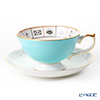 Aynsley The Nelros Cup of Fortune Fortune Telling Teacup & Saucer 200 ml, turquoise