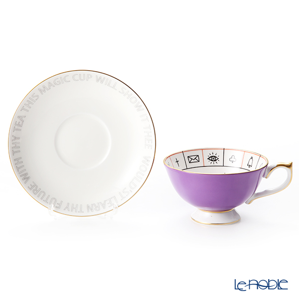 Aynsley The Nelros Cup of Fortune Fortune Telling Teacup & Saucer 200 ml, violet
