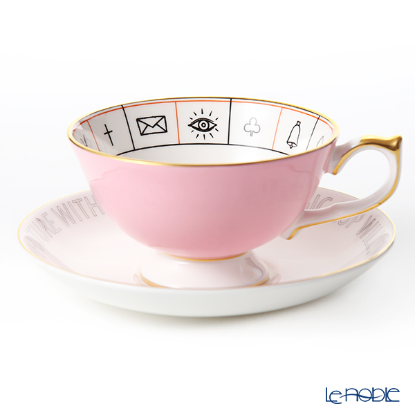 Aynsley 'The Nelros Cup of Fortune' Pink Tea Cup & Saucer 200ml