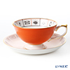 Aynsley The Nelros Cup of Fortune Fortune Telling Teacup & Saucer 200 ml, coral