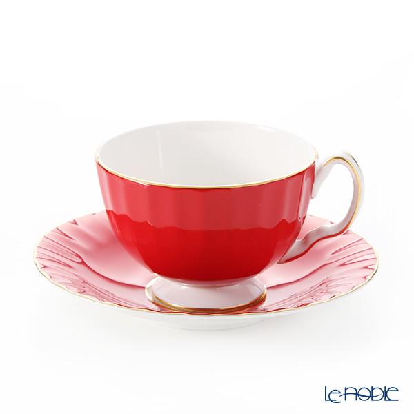 エインズレイ コテージガーデン #2973 ティーカップ&ソーサー(オーバン) レッド 180ml