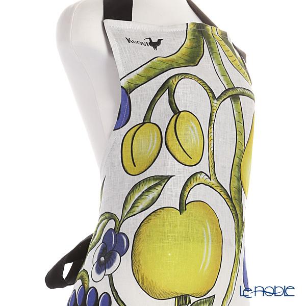 Kuovi 'Paratiisi Orchard' Colorful Apron (Linen 100%)