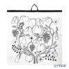 Kuovi Covey Paratiisi Orchard Black Kitchen Towel (Linen 100%)