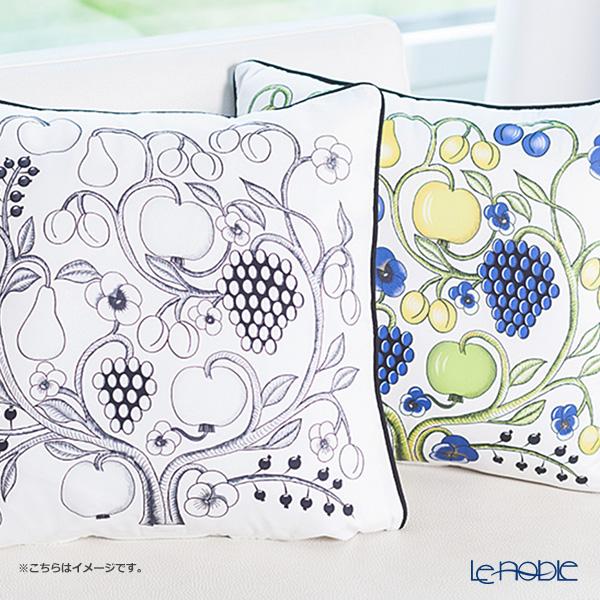 Kuovi 'Paratiisi Orchard' Black Cushion Cover (Cotton 100%)