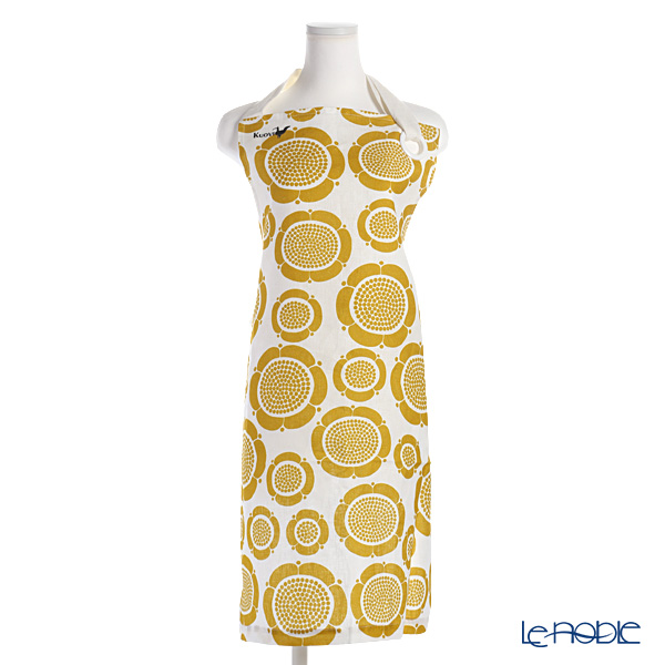 Kuovi 'Sunday Morning' Yellow Apron (Linen 100%)